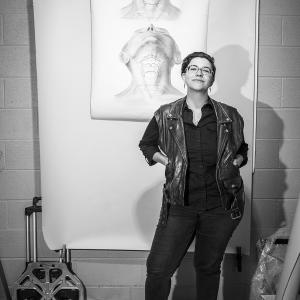 Portrait of Julia Factorial by Karen Kirchhoff